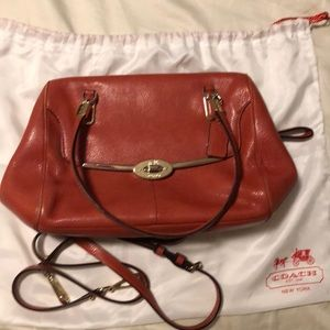 Coach purse with long strap and dust bag included